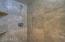 Travertine shower in Master bathroom
