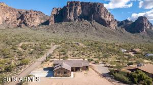 The Superstition Mountains and Lost Dutchman State Park are practically in the backyard