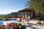 Pool, patios and Guest house