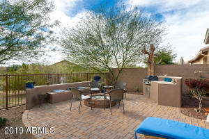 Custom designed back yard backs to Desert Common Area for privacy with view fencing