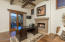 Fourth Bedroom or Office with fireplace and wood beamed ceilings