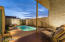 From your private courtyard, this end unit provides beautiful views of Arizona sunsets.