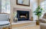 Wood-burning fireplace in Great Room