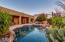 Backyard with beautiful flagstone patio