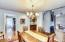 Formal dining area. Open to large living room area.