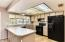 Kitchen with all appliances included.