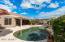 Pebbletec pool with a Kookdec surround.