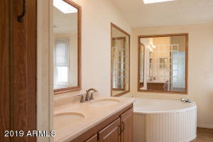The en suite master bath's sweetest feature is the oversized bathtub. Make soaking away the day your reality here!