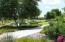neighborhood walking trail and lake