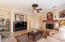 Very comfortable family room with a cozy gas fireplace for our cool days of winter.