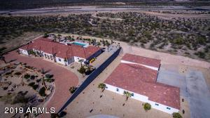 Great drone view of both home and RV/Car garage offered on this fabulous estate.