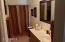 Large Master Bath has a water closet, walk-in closet and tub/shower combo