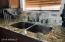 Granite counter tops with deep stainless steel sink