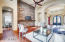 Stone Accents in Great Room / Looking Into Wine Tasting Room!!