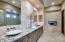 Elegant Double Sinks with Lots of Room For Two to Get Ready