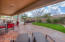 Over 1400 square feet of extended patio made of stained concrete!