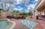 Very private backyard can hold about 100 people comfortably with total privacy!
