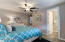 Flush mount ceiling fans in every bedroom and the great room
