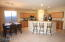 Open Kitchen with breakfast bar and Stainless appliances