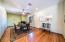 From entry/ great room with beautiful bamboo flooring
