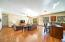 HUGE area for different furniture settings. Split floor plan.