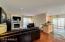 Great room floor plan with recessed lighting