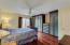 Master bedroom with sliding door.