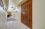 These gorgeous sliding doors lead you into the master suite.