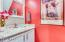 Updated downstairs powder room. Slab granite counters, updated cabinets
