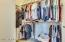 Roomy master closet