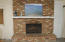 Original brick, wood burning, fireplace