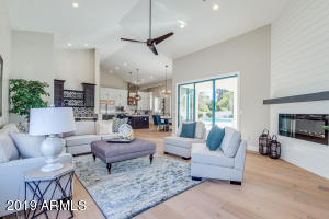 Massive open concept family room/ kitchen