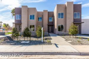Beautifully made, this brand new, 2019 townhouse is move in ready! Featuring only the best finishes, this contemporary style townhouse has it all. Open floor plan kitchen and living room, back patio, two car garage and laundry room, this home feels fresh and spacious. Just minutes from everything Central Scottsdale has to offer, including the 51, these townhouses are just one of a few new build properties emerging in the area. Alarm system included with a 24 month, prepaid contract upon sale of home