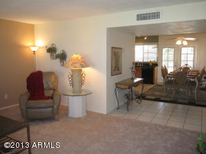 Great open floor plan with LR/DR/Kitchen to French doors to patio and outside fun.
