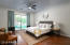 The Master Suite is split from the rest of the rooms and extremely private.