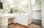 Her sink includes separate vanity