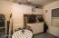 garage built-in cabinet/workshop area