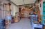 Cabinets & Epoxy Floor. See extra storage over garage door!