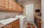 Built-In Cabinets & Sink area. Gas & Electric hook up for dryer