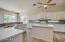 New Quartz countertops and tile plank flooring, backsplash and cabinet hardware