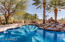 New Arizona Blue Pebble Tec with new transitional tile. Pool, spa, waterfalls, lagoons and more!