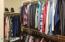 Large master walk-in closet!