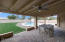 The cobblestone covered patio is an excellent outdoor entertainment space.