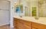 Double sinks in master bedroom