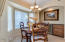Dinette area off Kitchen, beautiful view of your Lake