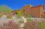 Large backyard with mature desert landscape