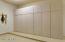 Garage cabinets on 1 bay side of garage
