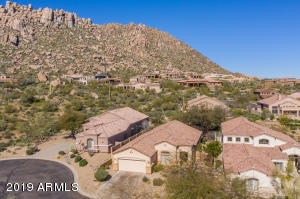 Cul De Sac Lot With Mountain Views from the front & back of home