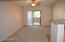 Nice size living room with a great view & access to the patio - storage room off patio.