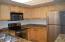 Convenient kitchen with stainless steel appliances (2017)